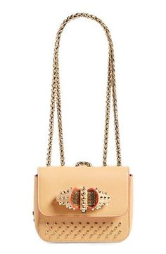 LOVE!! Christian Louboutin 'Sweet Charity' Spike Calfskin Shoulder Bag available at #Nordstrom