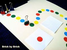 homemade board game (Brick by Brick)
