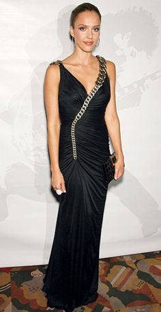 200 Celebrity Looks We Love - Jessica Alba in Versace, 2007 from #InStyle