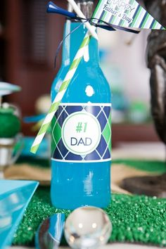 Fathers Day Party Ideas | A Hole-in-One Golf PAR-Tee - ideas on DIY decorations, food, desserts, gifts and favors for a fab dad celebration! #golfparty #golf #partee #golfpartyideas #fathersday #fathersdayparty #golfprintables #partyideas Party Icon, Party Kit, Diy Party, Golf Party, Party Printables, Printable Invitations, Party Themes, Party Ideas, Gift Ideas