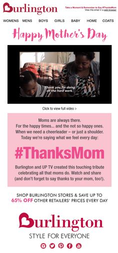Mother's Day email 2016