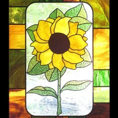 Sunflower - Floral Stained Glass by Mark Stine