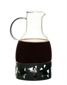Christmas mulled wine carafe in dual-wall thermal glass from Sagaform comes with a warmer to hold your mulled wine warm! Matches the Christmas mulled wine mug in glass in package of four.