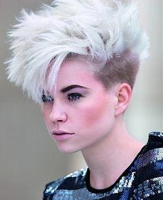 Short Hair - Blonde Mohawk Style
