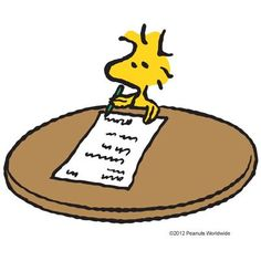 Woodstock writes a letter to Snoopy and the Peanuts Gang.❤️