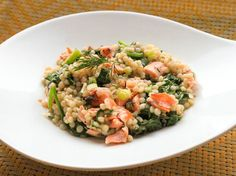 Flakes of salmon and wilted spinach add body and flavor to this warm couscous salad that's seasoned with mustard and dill. Ready in under 30 minutes, it's perfect for a quick weeknight meal or picnic lunch.