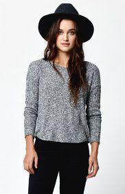Twist Back Knit Sweater