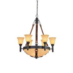 Kalco Rodeo Drive 9 Light Shaded Chandelier Shade Color: Penshell / Buddha Leaf, Finish: Antique Copper