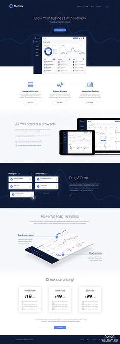 PSD Web Template - Merkury