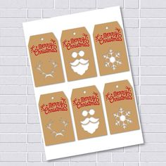 PRINTABLE Christmas Tags Christmas DIY tags by printablelovers