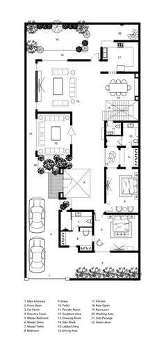 Residence design for client in Ludhiana Courtyard House Plans, Facade House, Contemporary House Plans, Modern House Plans, Best House Plans, House Floor Plans, Home Design Plans, Plan Design, Craftsman Floor Plans
