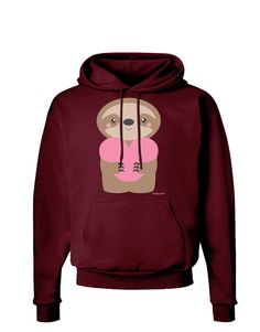 Esprexx Sloth Hanging from Heart Hoodie