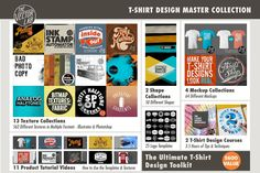 T-Shirt Design Master Collection by TheVectorLab on @creativemarket