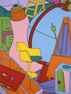 Find the latest shows, biography, and artworks for sale by Michael Craig-Martin. Conceptual artist Michael Craig-Martin—who taught Damien Hirst, Gary Hume, a… Art Doodle, Michael Craig, Memento, Still Life Artists, Manchester Art, Ligne Claire, A Level Art, Collage, Arte Popular