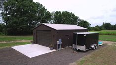 Drone Footage of Eye-Catching Steel Garage Steel Garage, Metal Garages, Steel Buildings, Shed, Outdoor Structures, General Steel Buildings, Barns, Sheds