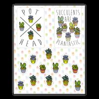Succulent Pattern Sticker
