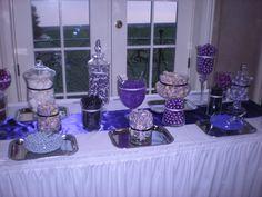 wedding reception purple desert bar   It's A Beautiful Day! Day-Of Wedding Coordination: November 2010