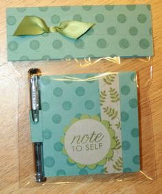 Post It Note Holder and Pen Set #4 by MrsOke - Cards and Paper Crafts at Splitcoaststampers