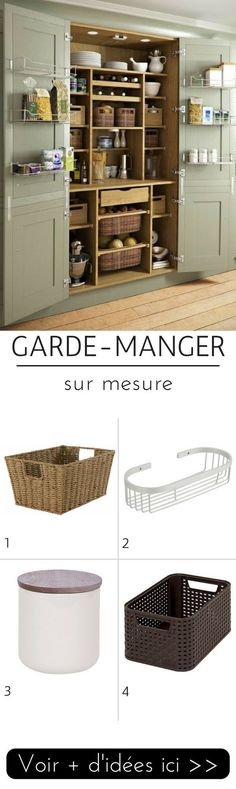 Garde-manger sur mesure dans le placard de la cuisine  http://www.homelisty.com/idees-garde-manger/