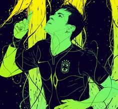 A company in Honduras ask me to do this illustrations about football stars.