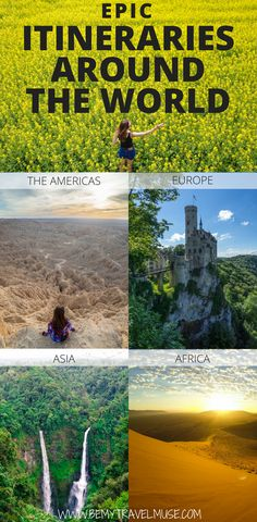 Itineraries from countries all around the world that will fulfil your wanderlust and check items off your travel bucket list. From The Americas, Europe, Asia, to Africa, these itineraries will help you plan your adventures around the world better. #Itinerary