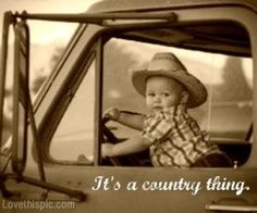 It's a Country Thing photography baby country photo truck cowboy