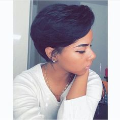 Pictures Of Short Black Hairstyles ↞ M O S T L Y M A Y A ✓ ↠  Black Hairstyles  Pinterest  Short