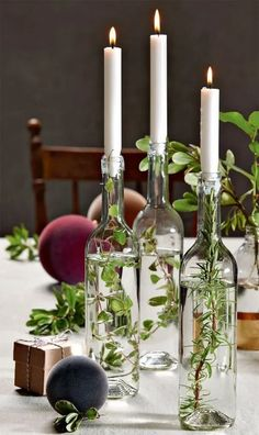Decoration: 3 festive tables for Christmas - - # Decoration . - Decoration: 3 festive tables for Christmas – – # Deco - Deco Table Champetre, 242, Deco Floral, Christmas Table Decorations, Center Table Decorations, Country Table Decorations, Simple Wedding Table Decorations, Communion Decorations, Wedding Table Centres
