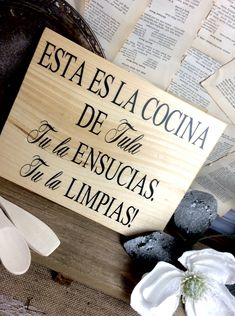 Spanish kitchen wood sign funny kitchen quote spanish home decor spanish wall art kitchen wall art rustic kitchen decor Cocina saying Spanish Kitchen Decor, Spanish Home Decor, Rustic Kitchen Decor, Spanish House, Shabby Chic Kitchen, Kitchen Wall Art, Vintage Kitchen, Kitchen Wood, Kitchen Ideas