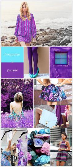 Color Crush:  Turquoise + Purple