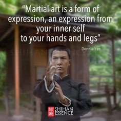 Donnie Yen --- these things are true. Fight comes from the spirit, always from…
