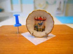 Quirky Vintage Bird in a Cage  Dollhouse by TheQuirkyCurioShoppe, $4.00