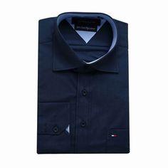 Tommy Hilfiger Long Sleeve Dress Shirts Navy Blue Free Shipping Long Sleeve Shirt Dress, Dress Shirts, Tommy Hilfiger Shirts, Navy Blue, Dresses With Sleeves, Free Shipping, Mens Tops, Fashion, Moda