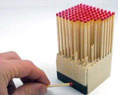 Matches packaging design