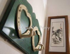 Attaccapanni a 2 cuori base in legno colore verde