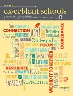 Educational Leadership - Summer 2015 - Page 13 WHAT IS YOUR WORD TO DESCRIBE GREAT SCHOOLS?