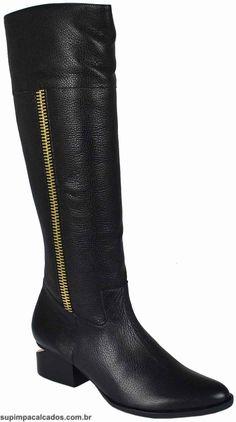 Bota Feminina Luz da Lua  Perfeita para looks com jeans, tanto calças quanto bermudas, para dias mais frios ótima pedida para ser usada com um casaco! #bota #luzdalua #supimpacalcados #supimpaONline