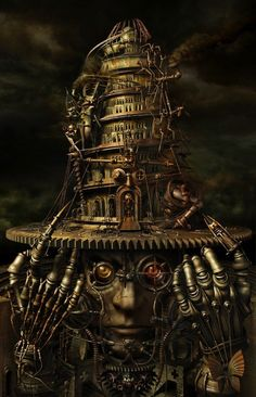 Steampunk Art of Almacan - Brain Tower