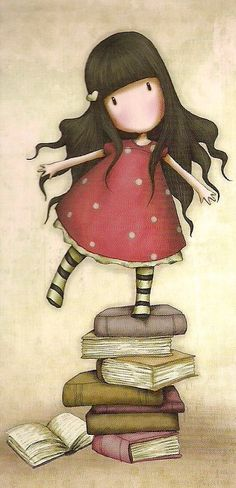 So cute… Would love to get these for my granddaughters! Gorjuss Canvas - New Heights - Santoro London Illustration Mignonne, Art Et Illustration, Illustrations, Meninos Country, Art Mignon, Santoro London, 3d Cards, I Love Books, Cute Art