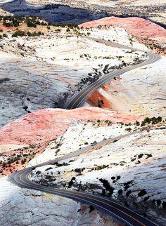 Designer Julia Kostreva saved this image of the sunset-hued earth along Highway 12 in Escalante, Utah