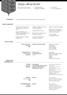 Professional CV by Kieran Stowers, via Behance