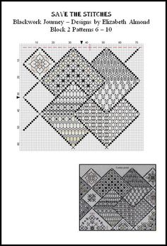 Save the Stitches Free project Block 2 download the PDF from www.blackworkjourney.co.uk