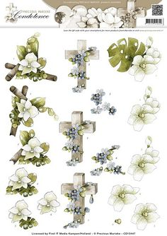 3D Knipvel - Precious Marieke - Condoleance - Sympathy Flowers Color