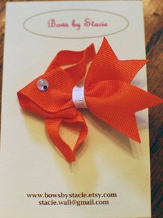 Orange Fish Ribbon Sculpture Hairbow by bowsbystacie on Etsy: