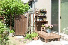 フィトライフのウッドデッキ・ガーデンドア・ガーデンテーブル