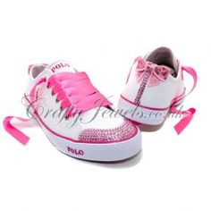 Crystal Ralph Lauren Polo in White/Pink. http://www.craftyjewels.co.uk/crystal-ralph-lauren-polo-whitepink-8123-p.asp  #ralphlauren #swarovski #polo #pink #shoes #trainers #crystal #style #fashion #crystalshoes #crystaltrainers