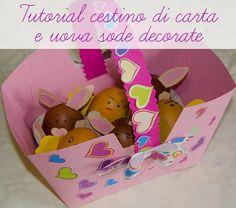 Aria di primavera? Guarda questo #tutorial* per realizzare un semplicissimo #cestino di carta con uova sode decorate a forma di animaletti!