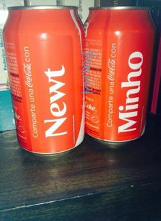 The maze runner coca cola  Newt&Minho ❤❤❤❤❤❤❤