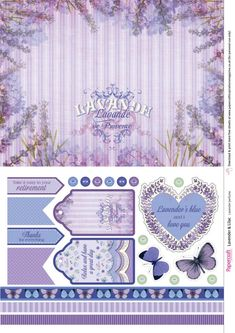 Free lavender papers from Papercraft Inspirations 177 - Papercraft Inspirations Printable Scrapbook Paper, Digital Scrapbook Paper, Printable Paper, Digital Papers, Digital Scrapbooking Freebies, Digital Paper Free, Free Paper, Journal Cards, Junk Journal