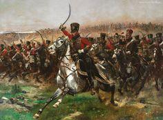 Edycja Tapety: Malarstwo, Obraz, Jean Baptiste Édouard Detaille, Bitwa, Konie